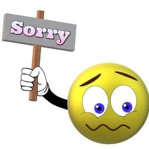 Sorry zeggen hoeft niet
